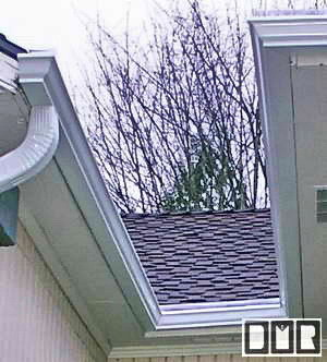Mitered gutter work