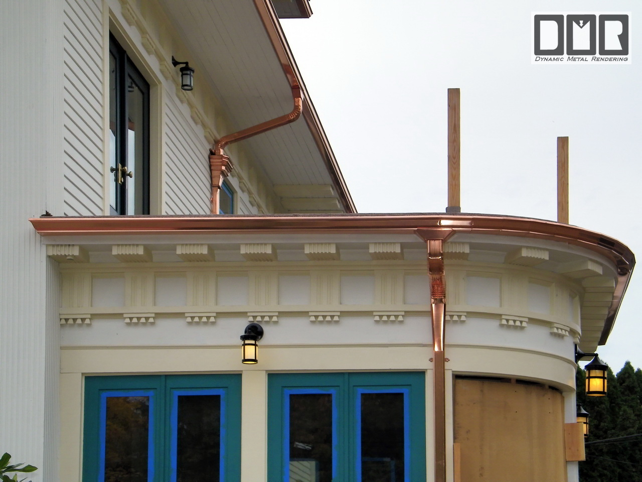 Dmr Gutters Unusual Copper Gutter Fabrication Photopage