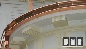 Special custom copper gutter work