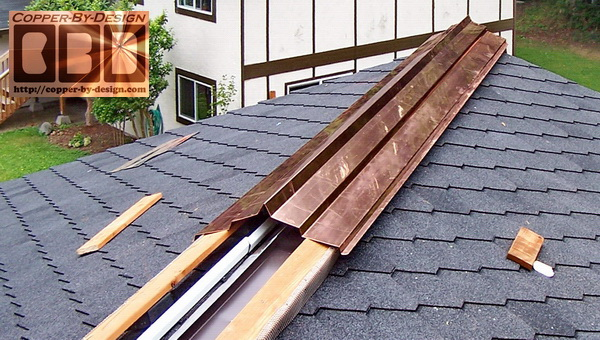 Valley Gutter In Spanish The Section Of A Slate Roof Under